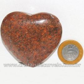 Coração Pedra Quartzo Jiboia Natural Lapidação manual Cod 126880