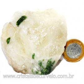 Turmalina Verde Canudo Extra Incrustado no Quartzo Cod 114249