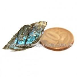 Labradorita Canadense Mineral Natural No Estojo Cod 123836