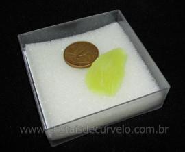 Calcedonia Verde Natural No Estojo Ideal P/Coleção Cod 104728