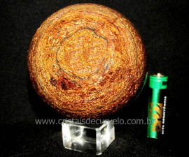 Esfera Pedra Bronzita Natural Mineral Bola Manual cod BB8514