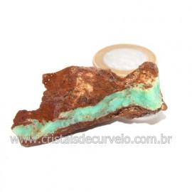 Crisoprasio Bruto Natural Pedra Familia da Calcedonia Cod 123174