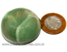 Massageador Cabochão Quartzo Verde Pedra Natural Cod 111064