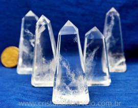 Obelisco Cristal Quartzo Hialino Pedra Natural Extra Transparencia Reff 51.6