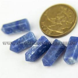 05 Micro Pontinha Cristal Azul Pedra 15mm pra montar joias