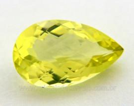 Gema Green Gold Gota Pedra Natural Montagem Joias Cod GG6637