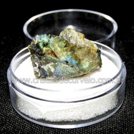 Labradorita Canadense Mineral Natural No Estojo Cod 114221