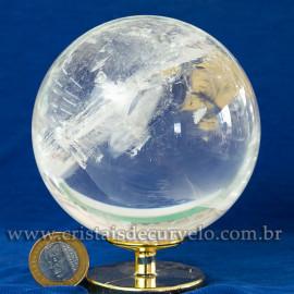 Bola de Cristal Pedra Extra Esfera Quartzo Transparente 112876