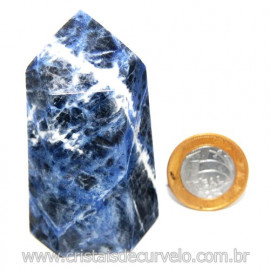 Ponta Sodalita Pedra Natural Gerador Sextavado Cod 119950