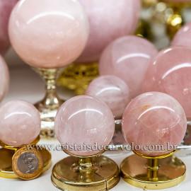1 Kg Esfera Bola Quartzo Rosa Comum Qualidade ATACADO 112684