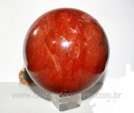 Esfera Dolomita Vermelha Pedra Natural Mineral Rocha Lapidação Manual Cod 1.376