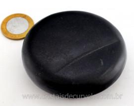 Massageador Disco Cristal Negro Pra Massagem Terapeutica Pedra Natural Cod 209.3