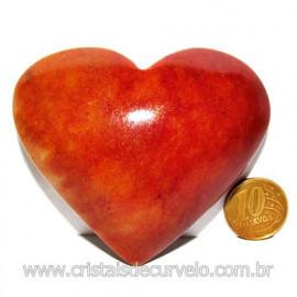 Coração Quartzo Vermelho Pedra Natural de Garimpo Cod 116015