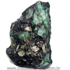 Esmeralda Canudo Incrustado no Xisto Pedra Bruta Cod 109957