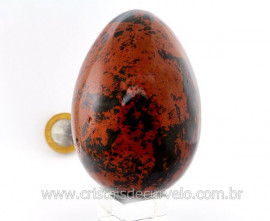 Ovo Pedra OBSIDIANA MAHOGANY Mineral Vulcanico Rocha Lapidado Manual cod 578.1