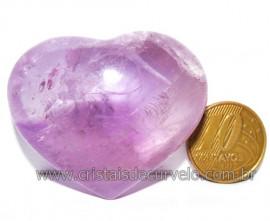 Coraçao Ametista Pedra Natural Ideal P/Presentear Cod 116115