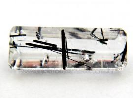 Turmalina Preta Gema Incrustada Cristal Pra Joias Cod TI7829