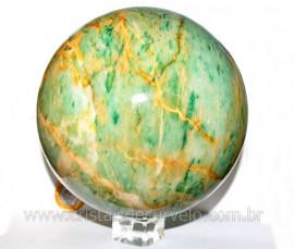 Esfera Jade Verde ou Bola de Jadeita Mesclado de Nefrita T/Grande Cod BJ1864