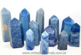 01 kg Pontas Quartzo Azul Gerador Lapidado ATACADO Reff 107362