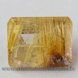 Rutilo Gema Baguette Natural Para Montar Prata e Ouro 112754
