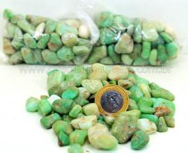 CRISOPRASIO Rolada Pequeno Pacotinho Com 200Gr Pedra Natural