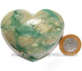 Coraçao Jade Verde Natural Origem Montes Claros MG Cod 121627