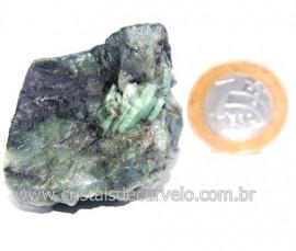 Esmeralda Canudo Incrustado Matriz Xisto Pedra Natural Cod 121321