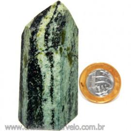 Ponta Pedra Quartzo Brasil Natural Gerador sextavado 113872