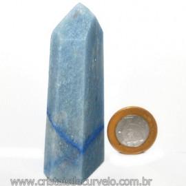 Ponta Quartzo Azul Pedra Natural Gerador Sextavado Cod 113478