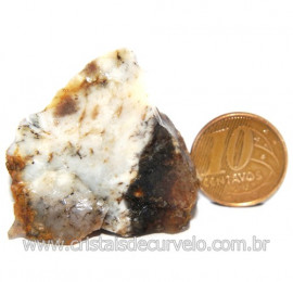 Agata Com Dendrita Pedra Calcedonia Natural de Coleção Cod 123708