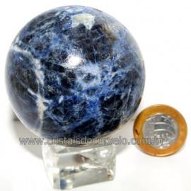Esfera Sodalita Azul Bola Pedra Natural Garimpo Cod 113492