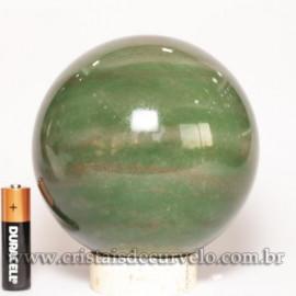Bola Quartzo Verde Esfera Grande 1.7kg Pedra Natural Cod 125470