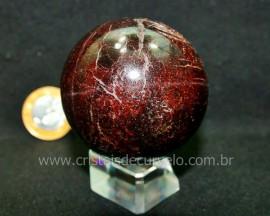 Esfera Granada Rodolita Bola Pedra Natural Garimpo Cod EG9901