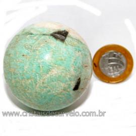 Esfera Amazonita Verde Pedra Natural de Garimpo Cod 113780