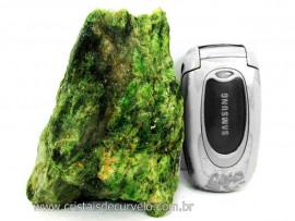 Diopsidio Verde Pedra Bruto Pra Colecionador Mineral Legitimo de Garimpo Cod 517.6