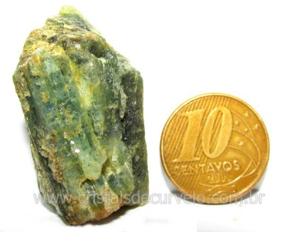 Cianita Verde Distenio Canudo Formado Bruto Natural Cod CV2711