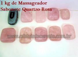 1 kg Massageador Sabonete Cristal Quartzo Rosa Massagem Terapeutica Com Pedras