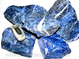 Sodalita Azul Bruto Pedra Pra Lapidar Pacote Atacado 20 kg
