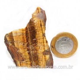 Olho de Tigre Pedra Extra Bruto Natural da África Cod 121223