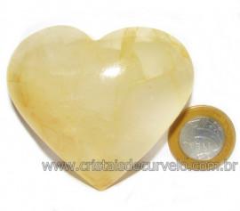 Coração Hematoide Amarelo Natural Presente Ideal Cod 115967