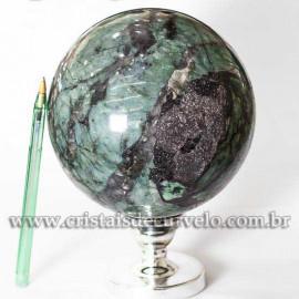 Esfera Esmeralda Pedra Bola Berilo Verde Natural Cod 125325