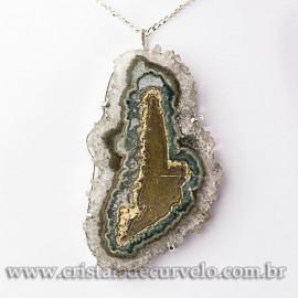 Pingente Flor de Ametista Pedra Natural Garra Prateado 112634