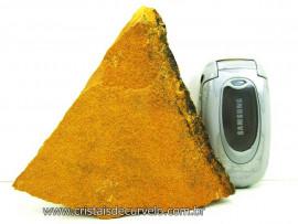 JASPE Amarelo Pedra Bruta Natural Para Colecionador ou Lapidario Cod 383.3