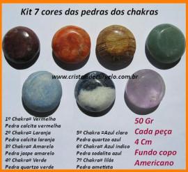 Pedras 7 Chakras kit 7 Cores dos Chacras Kundalini Stone