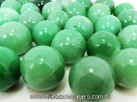 10 Mini Bola Aventurina Verde Esfera Pedra Natural e Pequena ATACADO