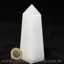 Obelisco Quartzo Leitoso Pedra Natural Lapidado Cod 112981