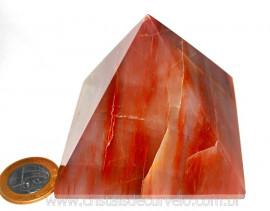 Piramide Aragonita Vermelha Medida Baseada Queops Cod PA9824