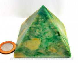 Piramide Jadeita Baseada Queops Pedra Comum Lapidado Manual Cod PJ404.8