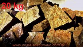 BRONZITA Pedra Bruto Pra Lapidar Pacote Atacado 20 kg