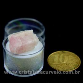 Turmalina Rosa Bruta Pedra Natural No Estojo Cod 126960